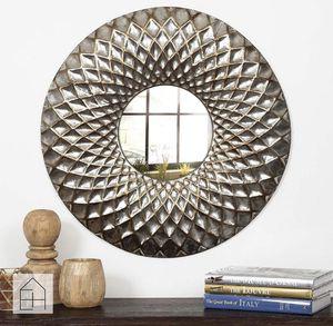 Medium Round Silver Contemporary Mirror (31.8 in. H x 31.8 in. W) for Sale in Dallas, TX