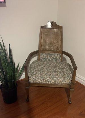Antique wicker rattan cane wood chair for Sale in Virginia Beach, VA