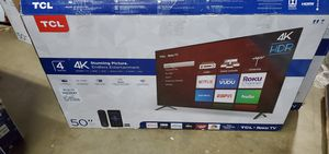 NEW!! 50' TCL 4K UHD/ HDR SMART TV....ROKU TV!!! for Sale in Grand Prairie, TX