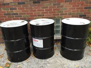 55 Gallon Metal Barrels With Removable Lids for Sale in Detroit, MI