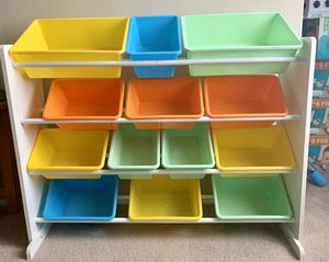 Kids Toy Storage Organizer With Plastic Bins, Storage Box Shelf Drawer for Sale in Tacoma, WA