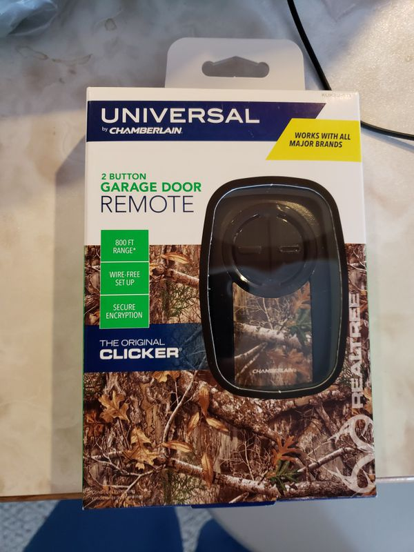 Universal 2 button garage door remote