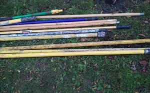 Used painting poles and extention poles. **NOT FREE **PLEASE TAKING BEST REASONABLE OFFER for Sale in Schaumburg, IL