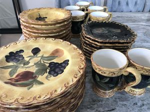 8 piece Tuscan style place settings for Sale in East Wenatchee, WA