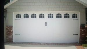 used like new 16x7 garage door and opener for Sale in Sanger, CA