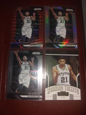 2018-19 PANINI PRIZM RUBY RED WAVE PRIZM, SILVER PRIZM, PANINI-CONTENDERS WINNING TCKT, BASE PRIZM TIM DUNCAN for Sale in Vermillion, SD
