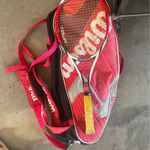 Wilson Kfactor Tour Tennis Bag With Tennis Racket for Sale in Amelia Court House, VA