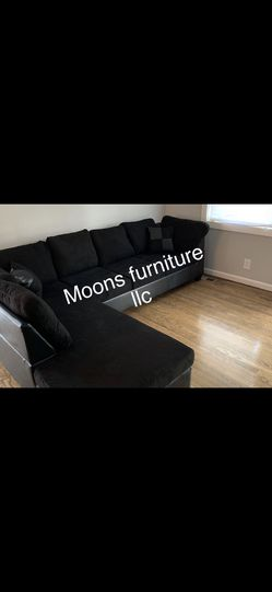 2328 Black Sectional With Ottoman  for Sale in Atlanta, GA