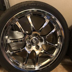 G35 Forged Rays With 2 New Tires for Sale in El Paso, TX