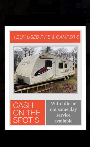 I buy used RVs & camper's for Sale in Mobile, AL