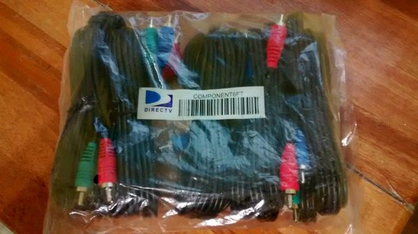BRAND NEW DTV Component Cables 5-Pack