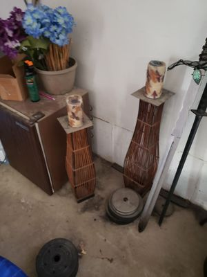 Wicker candle holders for Sale in Salt Lake City, UT