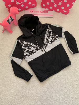 Pink Victoria's Secret Campus Sequin Logo Sherpa Anorak for Sale in Bakersfield, CA