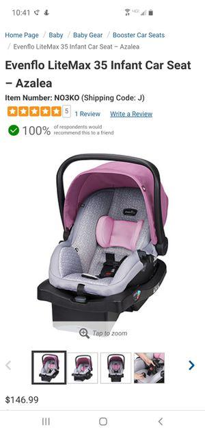 Evenflo infant car seat for Sale in Comstock Park, MI