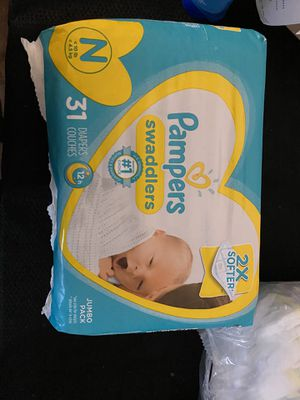 Pampers Swaddlers Newborn for Sale in City of Orange, NJ