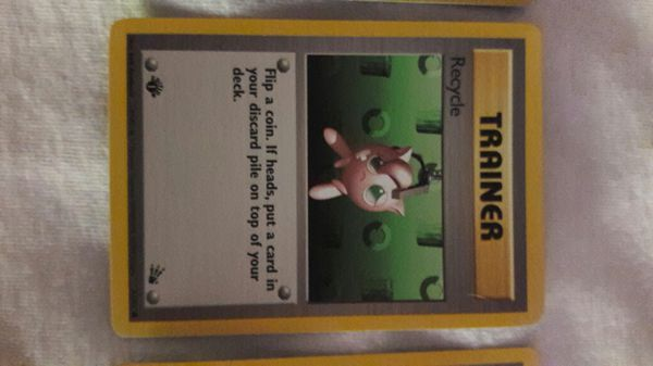 1st edition Pokemon Trainer cards from 1999