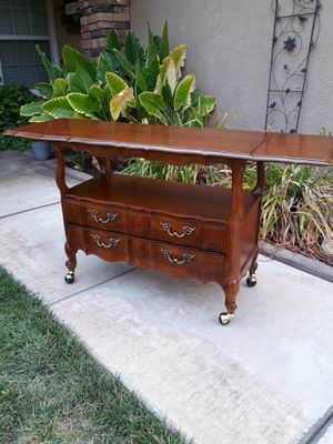 """VINTAGE """"THOMASVILLE FURN"""" FRENCH PROVINCIAL ROLLING SERVING TEA-BAR CART W/ EXT 38""""L×19""""W×30.5""""H W/ 2 × 11"""" EXT for Sale in Corona, CA"""