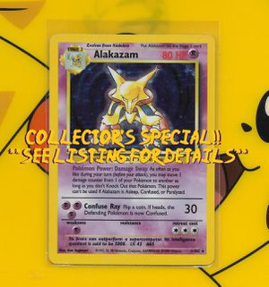 Pokemon: Alakazam #1 (Very Fine) Base Set Rare Holo for Sale in Chesilhurst, NJ