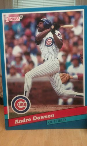 Chicago Cubs Andre Dawson cardboard poster, approximately 30×15 for Sale in Tacoma, WA