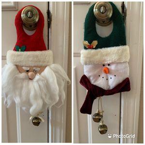 Santa & Snowman Door Hangs for Sale in Cypress, TX