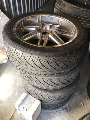 Pack of 22 inch wheels (rim and tier) for Sale in Arlington, VA