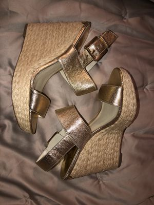 Michael, Michael Kors Espadrille Gold Wedge Size 8.5 for Sale in Aloha, OR