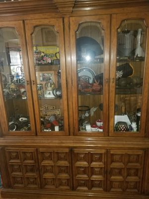 Antique china cabinet solid oak for Sale in Riverside, CA