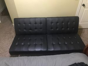 Black Leather Futon for Sale in Bentonville, AR
