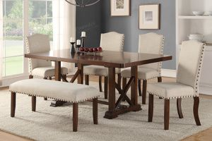 6pcs dining table set / 6 pieces dinette table set / table and chairs for Sale in Los Angeles, CA