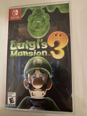 Luigis Mansion 3 Nintendo Switch for Sale in Miami, FL