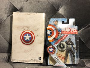 Captain America SDCC 2009 Exclusive 3.75 Figure Black White Gray Marvel Universe for Sale in Fresno, CA