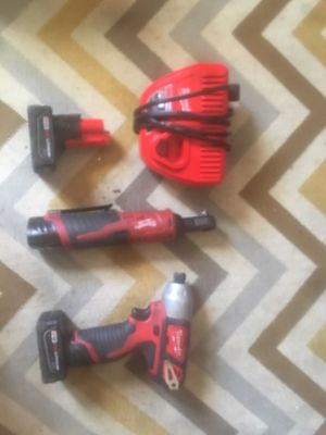 Milwaukee ratchet and impact driver for Sale in Mount Rainier, MD