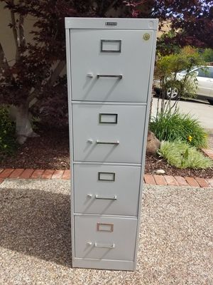 File Cabinet - 4 Drawer, Letter Size, Grey Color for Sale in Martinez, CA