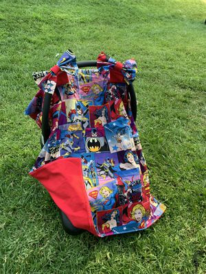 Super hero ladies car seat canopy for Sale in Temple City, CA