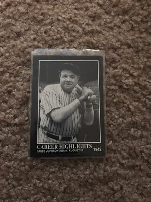 Babe Ruth Baseball Card for Sale for sale  Bakersfield, CA