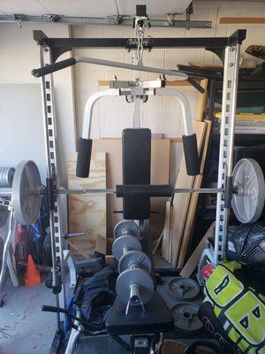 Bodycraft smith machine weight bench w/500lbs free weights for Sale in Chandler, AZ