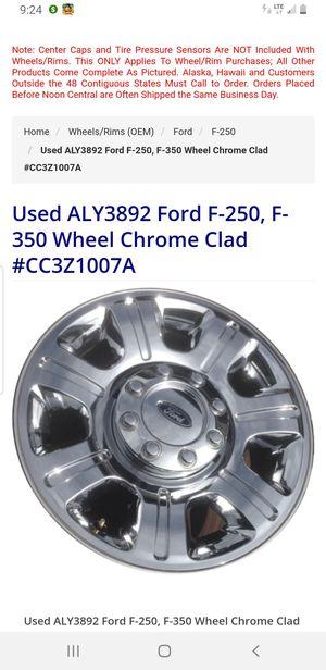 Super Duty Rims King Ranch Rims Ford F-250, F-350 Wheel Chrome Clad #CC3Z1007A Ford F-250 2011-2016 Ford F-350 SRW 2011-2016 for Sale in Fitzgerald, GA