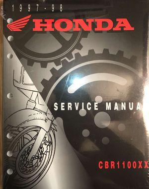 1997-1998 Honda CBR1100XX service manual for Sale in Rosemead, CA
