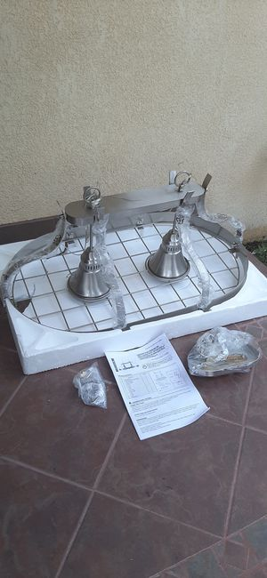 NEW Kitchen Island Pendent Lighted Pot Rack for Sale in Gardena, CA