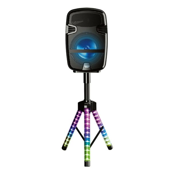 Sharper Image Wireless LED Party Speaker with LED Tripod + Mic