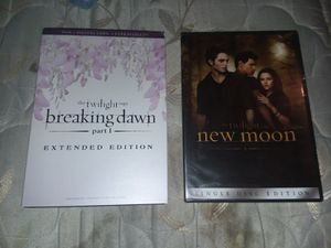 New moon and breaking dawn movies for Sale in Cartersville, VA