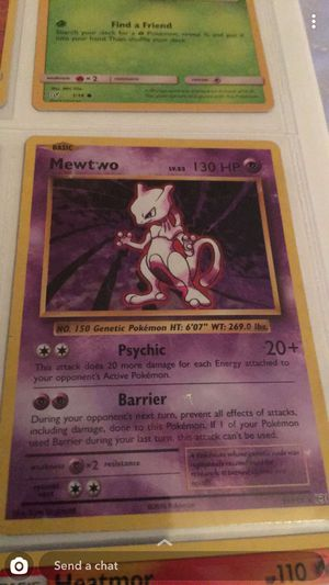 POKEMON collector card MEWTWO for Sale in Squaw Valley, CA