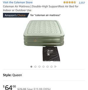 Coleman Air Mattress for Sale in Stony Brook, NY