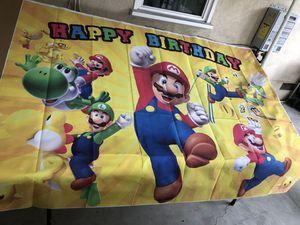 Super Mario party backdrop for Sale in Montclair, CA