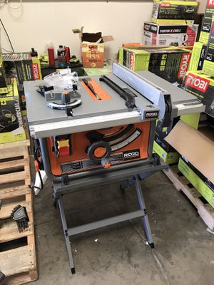 RIDGID 15 Amp 10 in. Table Saw with Folding Stand for Sale in Westminster, CA