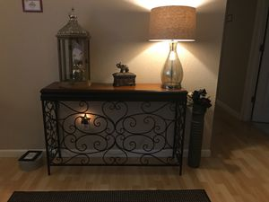 "Decor table set, larger one little under 4ft in width and 1ft deep 31"" tall, smaller is under 3ft in width and little under 1ft deep 29"" in height for Sale in Federal Way, WA"