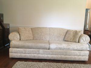 Bassett Sleeper Sofa with two pillows for Sale in Manassas, VA