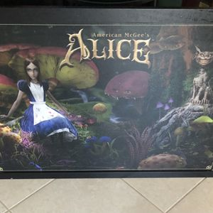 American McGee's Alice In Wonderland Framed Painting 3' X 2' for Sale in Clermont, FL