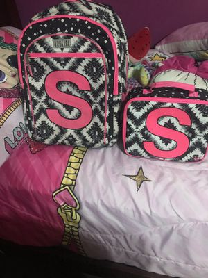 Justice backpack and lunch box for Sale in Fort Worth, TX