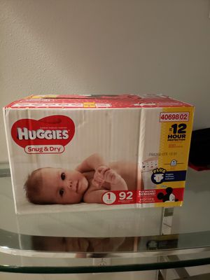 Huggies size1 for Sale in Houston, TX